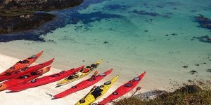sea kayak Plockton improver beach