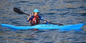 sea kayak plockton Blue kayaker