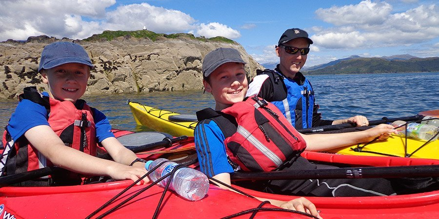 sea kayak plockton Family outdoor activities