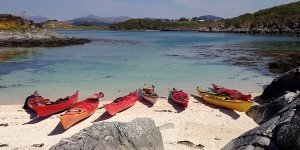 sea kayak plockton beach blue sea