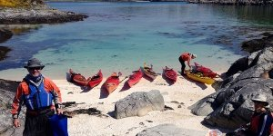 sea kayak plockton island beach