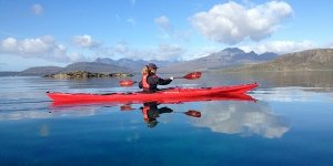 sea kayak plockton kayaker calm seas