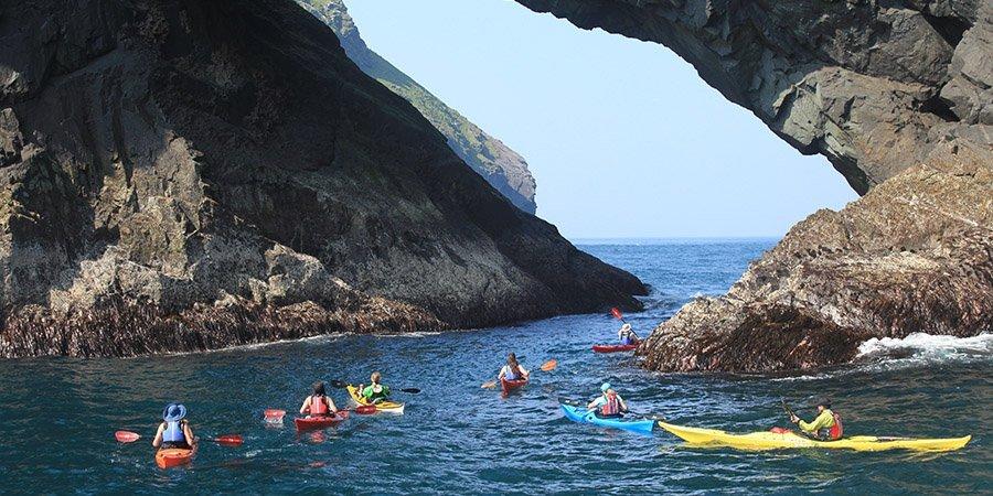 sea kayak plockton soay arch