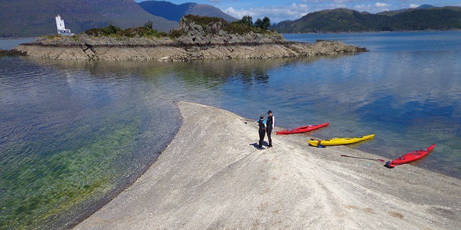 sea kayak plockton views island